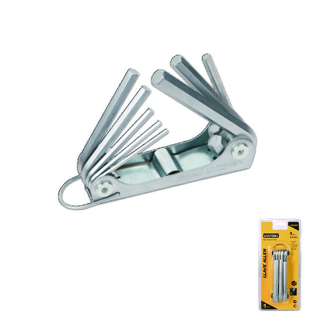 8 PIECE HEX KEY SET