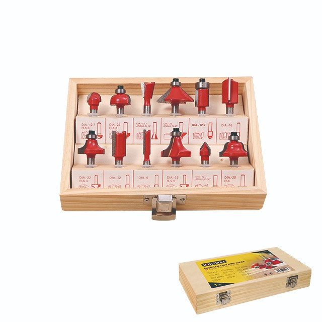 12 PIECE SET ELECTRIC ROUTER BITS