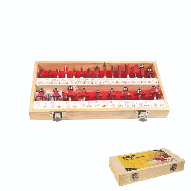 24 PIECE SET ELECTRIC ROUTER BITS