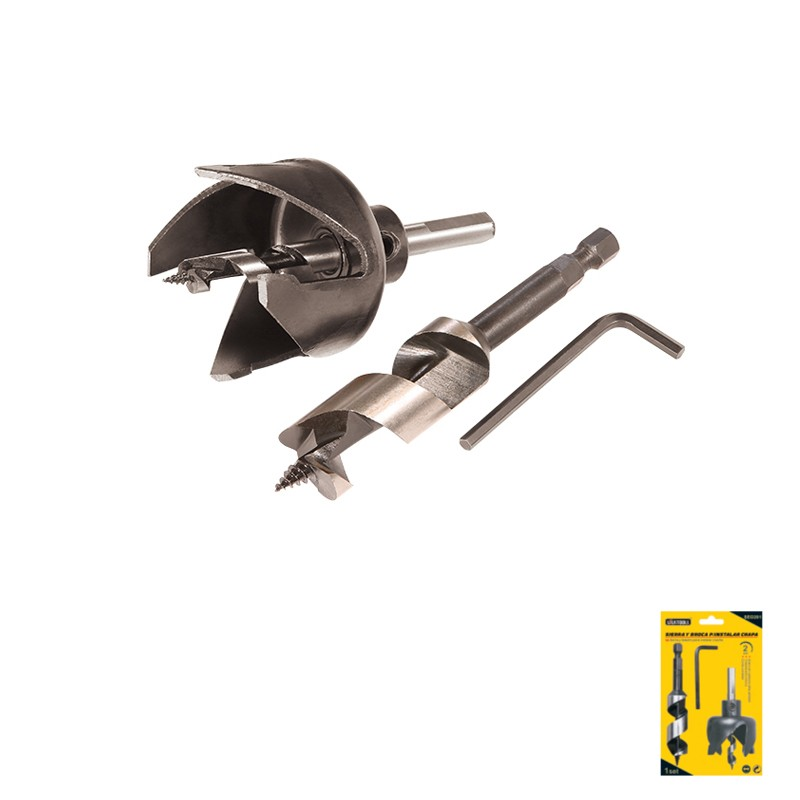 2 PIECE HOLE SAW SET